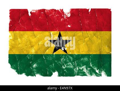 Grungy Flag - Ghana - Stock Photo