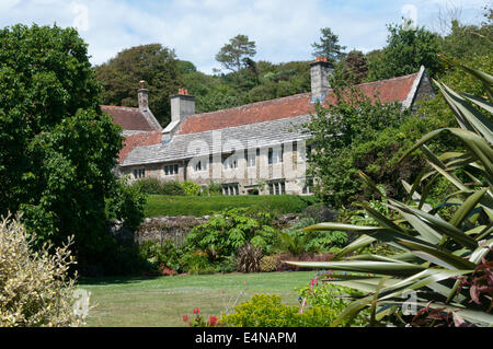 Mottistone Manor on the Isle of Wight.  PHOTOGRAPHED FROM PUBLIC ROAD. - Stock Photo