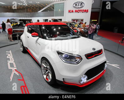 White and red Kia Track'ster concept - Stock Photo