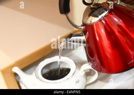 Red Kettle - Stock Photo