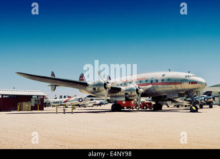 Lockheed Constellation at Pima Air and space Museum Tucson Arizona USA - Stock Photo