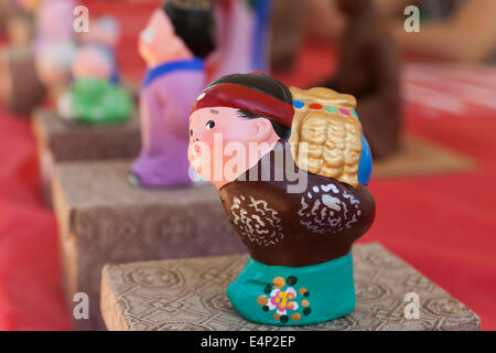 Chinese clay figure of man - Stock Photo