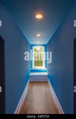 Perspective Hallway With Window - Stock Photo