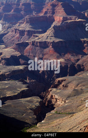Grand Canyon seen from South Rim Trail, Grand Canyon National Park, Arizona, USA - Stock Photo