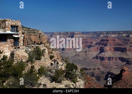 Historic Lookout Studio (1914), Grand Canyon Village, South Rim, Grand Canyon National Park, Arizona, USA - Stock Photo