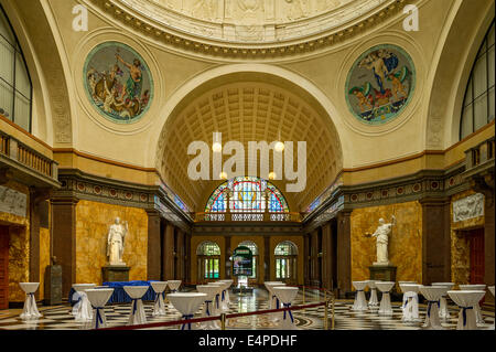 The foyer of the Wiesbaden Kurhaus spa house with casino, Wiesbaden, Hesse, Germany - Stock Photo