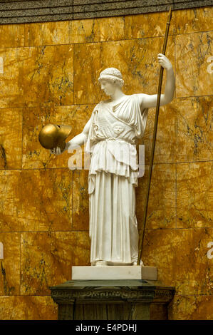 Marble statue of the goddess Athena, copy of the bronze statue by sculptor Phidias on the Acropolis at Athens, the - Stock Photo