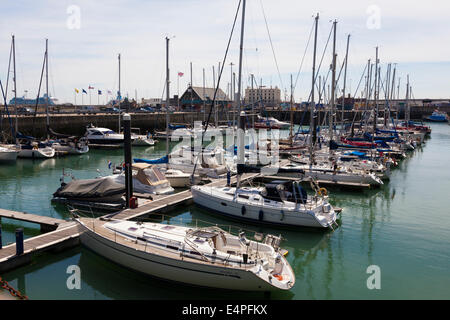 Dover Marina, Dover, Kent, UK - Stock Photo