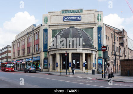 The Brixton O2 Academy music venue in Stockwell Road, south London. - Stock Photo