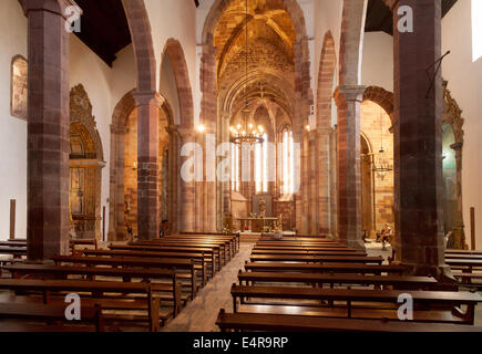 Se Catedral, Silves ( Silves Cathedral ) interior, Algarve, Portugal - Stock Photo