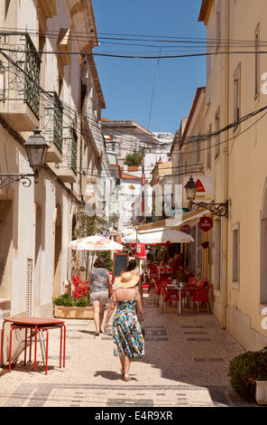 Street scene, Silves town, Algarve, Portugal Europe - Stock Photo
