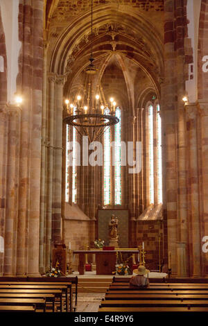 Interior, Se Catedral Silves, ( Silves cathedral ), Silves, Algarve, Portugal Europe - Stock Photo