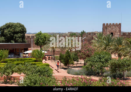 The medieval Moorish Castle, Silves, Algarve, Portugal Europe - Stock Photo
