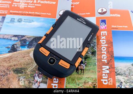 Satmap Active 12 GPS Unit and Ordnance Survey Maps - Stock Photo