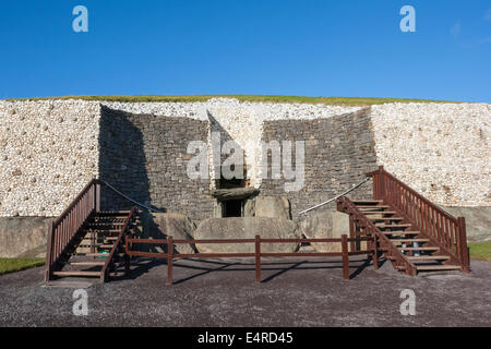 This building is UNESCO World heritage site. Newgrange is over 5000 years old. Located in County Meath, Ireland, - Stock Photo