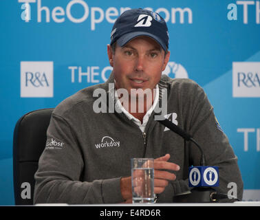 Hoylake, UK. 16th July, 2014. The Open Golf Championship. Matt KUCHAR [USA] Press Conference. Credit:  Action Plus - Stock Photo