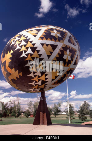 World's largest Ukrainian Easter Egg,Vegreville,Alberta - Stock Photo