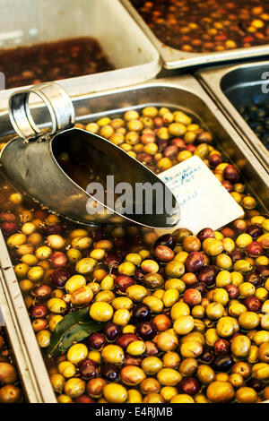 olives in market - Stock Photo