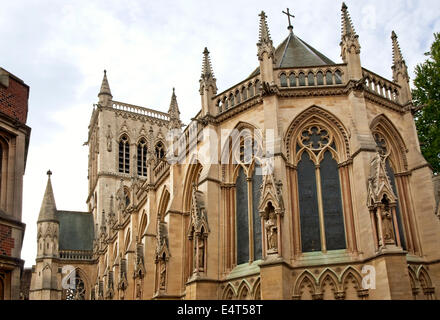 St.Johns College at the University City Cambridge, England. | St.Johns College in der Universitätsstadt Cambridge, - Stock Photo