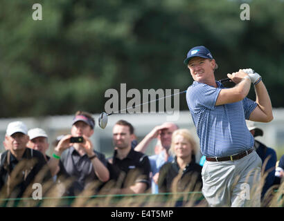 Hoylake, UK. 16th July, 2014. The Open Golf Championship. during his practice round. Credit:  Action Plus Sports/Alamy - Stock Photo