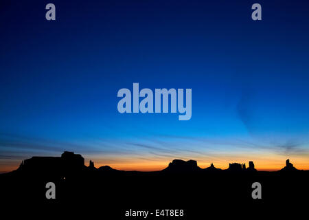 Sunrise over Eagle Mesa, Brigham's Tomb, King on his throne, Stagecoach, Bear and Rabbit, The Castle, Big Indian - Stock Photo