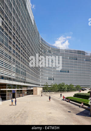 BRUSSELS, BELGIUM - JULY 16, 2014:The Berlaymont is an office building that houses the headquarters of the European - Stock Photo