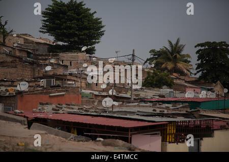 Angola, Luanda, city life, Africa buildings in city - Stock Photo