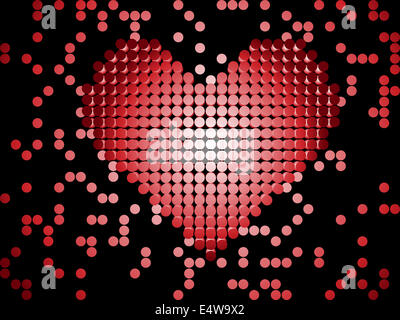 Heart Background Dots 3d - Stock Photo