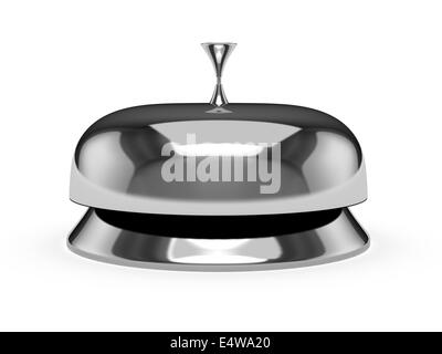 Service bell isolated on white - Stock Photo
