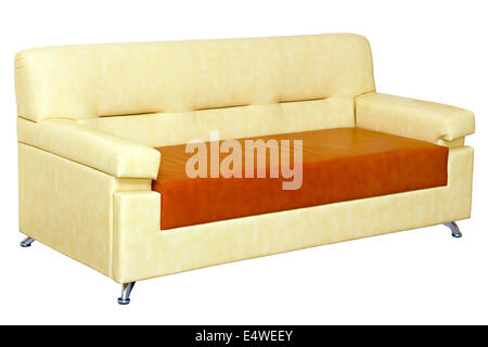 light leather sofa modern design - Stock Photo