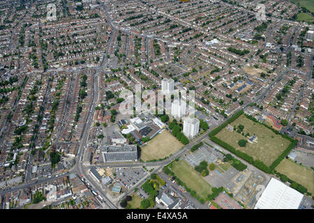 An aerial view of Southend taken on a sunny day - Stock Photo