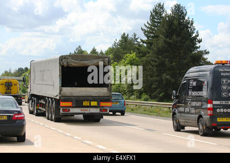Traffic on the A12 dual carriageway in Essex, England - Stock Photo