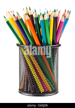 Pencils in container - Stock Photo