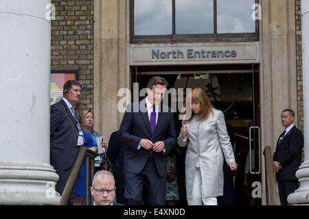 British Prime Minister David Cameron visits Imperial War Museum in London
