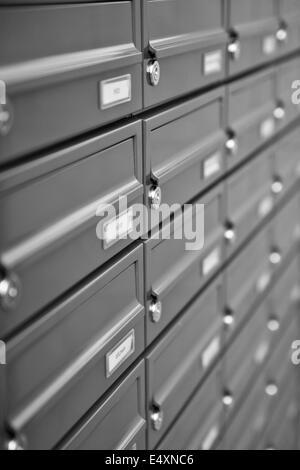 metallic mailboxes. - Stock Photo