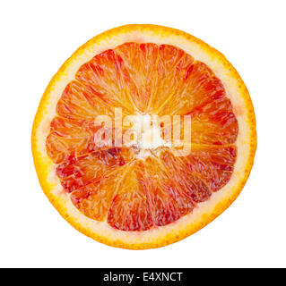 Slice of blood red orange fruit - Stock Photo