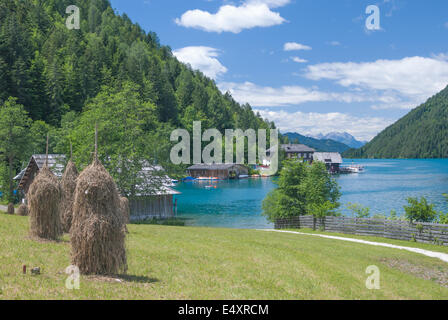 Lake Weissensee,Carinthia,Austria - Stock Photo