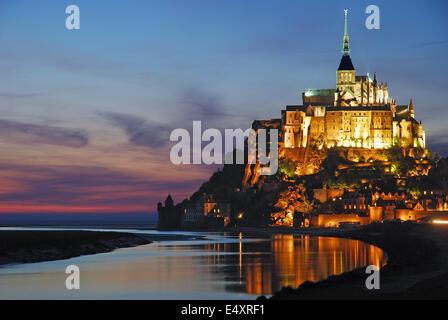 Mont Saint Michel,Normandy,France - Stock Photo