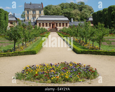 Prinz-georg-garten Garden, In The Back The St. Elizabeth Church Stock Photo, Royalty Free Image ...