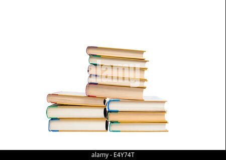Books isolated on the white - Stock Photo