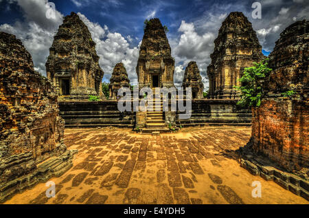 East Mebon, Cambodia, Siem Reap, Angkor Wat - Stock Photo