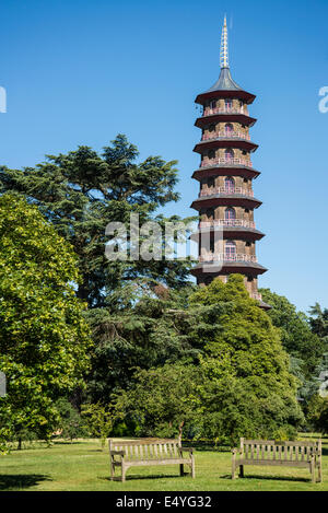 Pagoda, Kew Royal Botanic Gardens, London, UK - Stock Photo