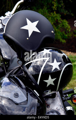 Motor Cycle Helmets - Stock Photo
