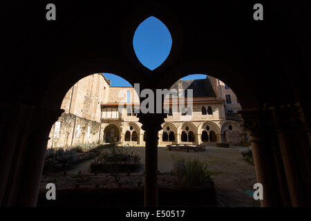 Romanesque Benedictine Abbey of Saint Martin Tulle France - Stock Photo