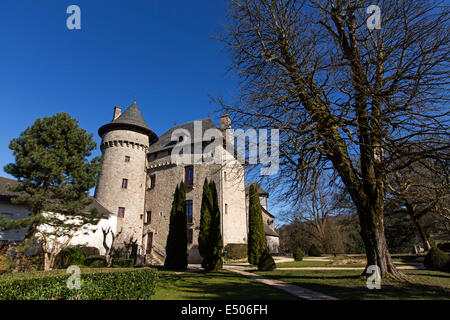 Castle Sainte-Fortunade Tulle France - Stock Photo