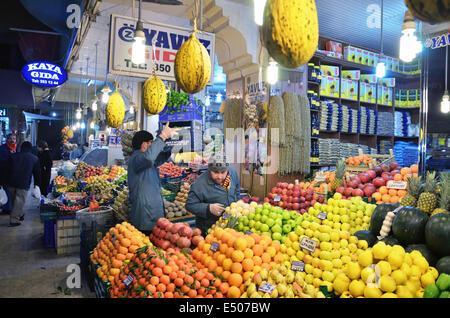 Grocery bazaar, Konya, Turkey - Stock Photo