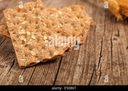 Wholegrain crispbread - Stock Photo