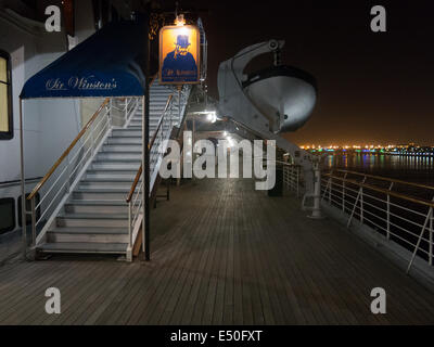 Sir Wiston's restaurnt on board of the RMS Queen Mary, Long Beach, CA - Stock Photo