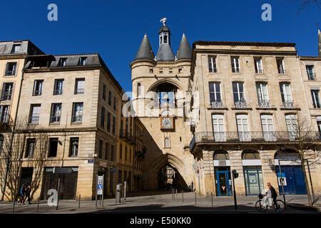 Grosse Cloche Gate Bordeaux France - Stock Photo