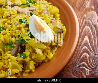 Scottish dish - Kedgeree - Stock Photo